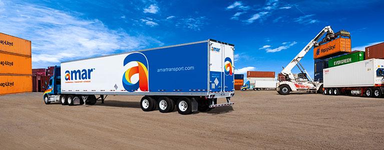 Trucking intermodal container storage Montreal Toronto Amar